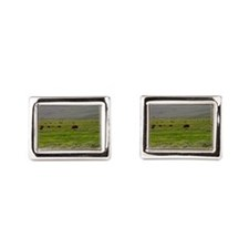 yellowstone national park Rectangular Cufflinks