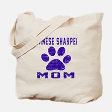 Chinese Sharpei mom designs Tote Bag
