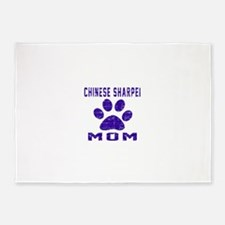 Chinese Sharpei mom designs 5'x7'Area Rug