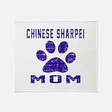 Chinese Sharpei mom designs Throw Blanket