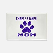 Chinese Sharpei mom des Rectangle Magnet (10 pack)
