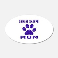 Chinese Sharpei mom designs Wall Decal