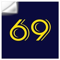 SIXTY NINE Seaside Navy Blue Wall Decal