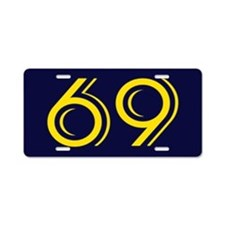 SIXTY NINE Seaside Navy Blu Aluminum License Plate