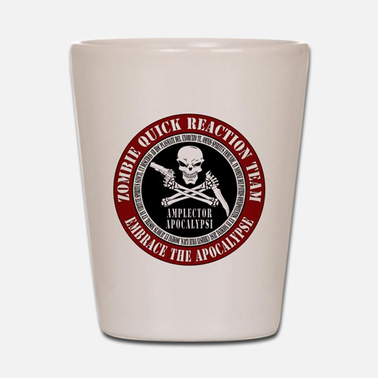 Zombie Quick Reaction Team Shot Glass