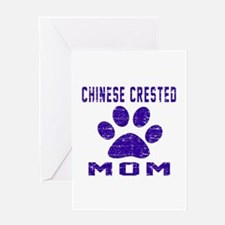 Chinese Crested mom designs Greeting Card
