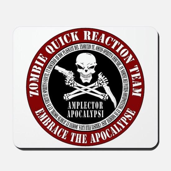 Zombie Quick Reaction Team Mousepad