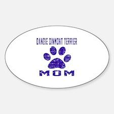 Dandie Dinmont Terrier mom designs Sticker (Oval)