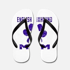 English Foxhound mom designs Flip Flops
