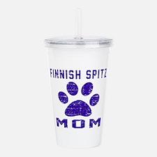 Finnish Spitz mom desi Acrylic Double-wall Tumbler