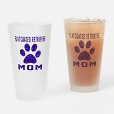 Flat-Coated Retriever mom designs Drinking Glass