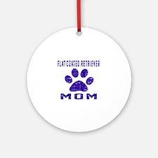 Flat-Coated Retriever mom designs Round Ornament