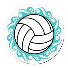 tribal volleyball Round Car Magnet