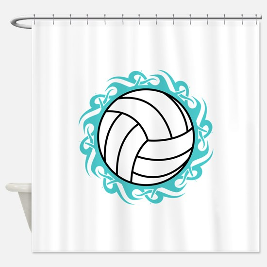tribal volleyball Shower Curtain