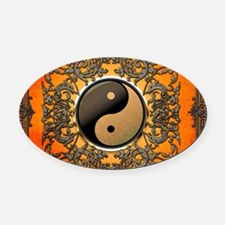 Ying and yang Oval Car Magnet