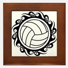 tribal volleyball vector Framed Tile