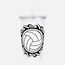 tribal volleyball vector Acrylic Double-wall Tumbl