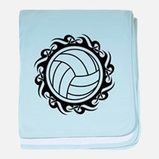 tribal volleyball vector baby blanket
