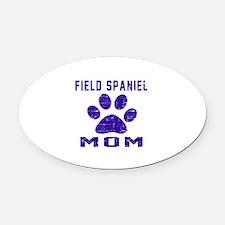 Field Spaniel mom designs Oval Car Magnet
