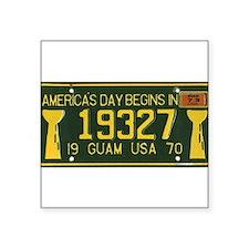 """Funny Guam Square Sticker 3"""" x 3"""""""