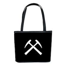 Crossed Rock Hammers Bucket Bag