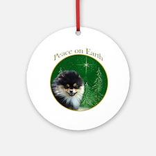 Pomeranian Peace Ornament (Round)