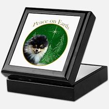Pomeranian Peace Keepsake Box