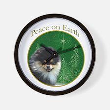 Pomeranian Peace Wall Clock
