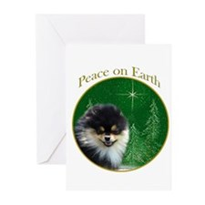 Pomeranian Peace Greeting Cards (Pk of 10)