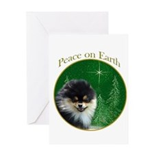 Pomeranian Peace Greeting Card