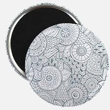 Vintage Floral Background Magnets