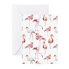Flamingo Birds Greeting Cards