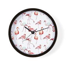Flamingo Birds Wall Clock