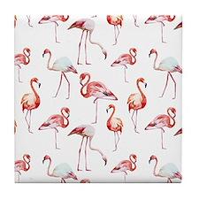 Flamingo Birds Tile Coaster