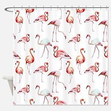 Flamingo Birds Shower Curtain