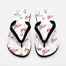 Flamingo Birds Flip Flops