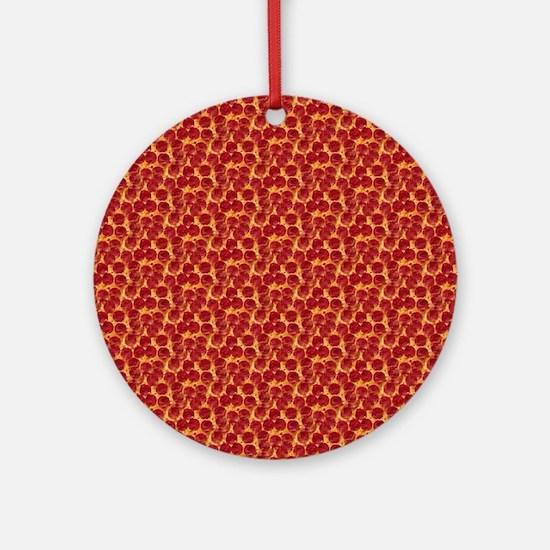 pizzas Round Ornament