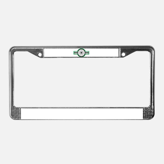cycleStripe wheel License Plate Frame