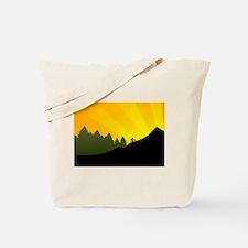 mountain trail biking Tote Bag