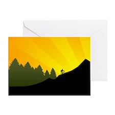 Mountain Trail Biking Greeting Cards