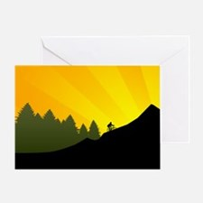 Mountain Trail Biking Greeting Cards