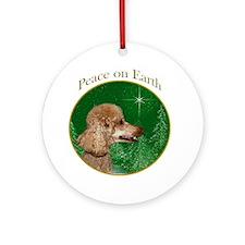 Poodle Peace Ornament (Round)
