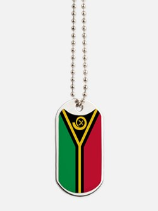 Vanuatu Flag Dog Tags