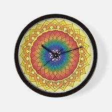 Sunflower Crown Mandala Wall Clock