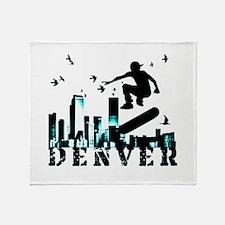 denver skateboarding Throw Blanket