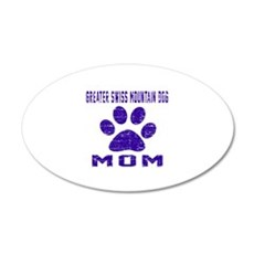 Greater Swiss Mountain Dog m 35x21 Oval Wall Decal