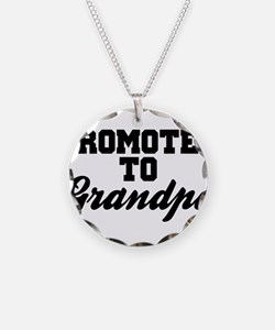 Promoted To Grandpa Necklace Circle Charm