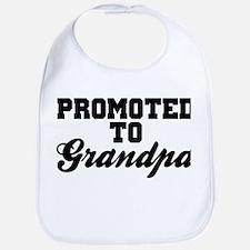 Promoted To Grandpa Bib