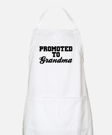 Promoted To Grandma Apron