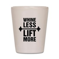Whine Less Lift More Workout Tank Shot Glass